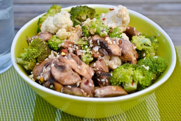 marinated mushroom & broccoli