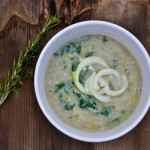 cream of kale & leek soup