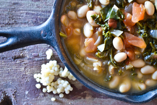 garlicky kale + white bean stew