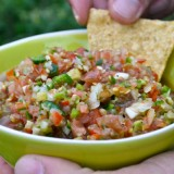 Christopher's Spicy Garden Salsa
