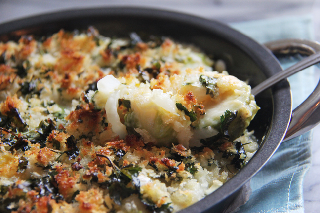 The Urban Mrs. shares a Brussels Sprouts Gratin recipe - peace. love ...