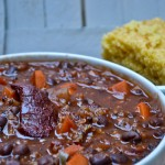 red quinoa sweet potato chili