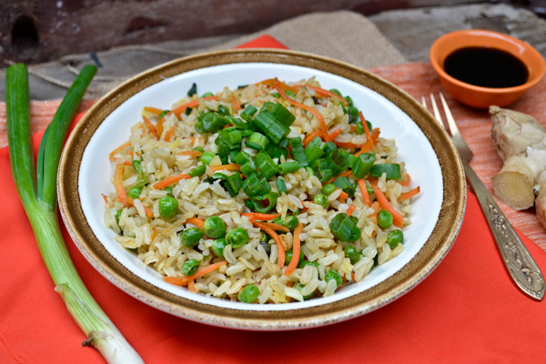 garlicky ginger fried rice