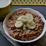 Chocolate Hazelnut Banana Oatmeal // peace. love. quinoa