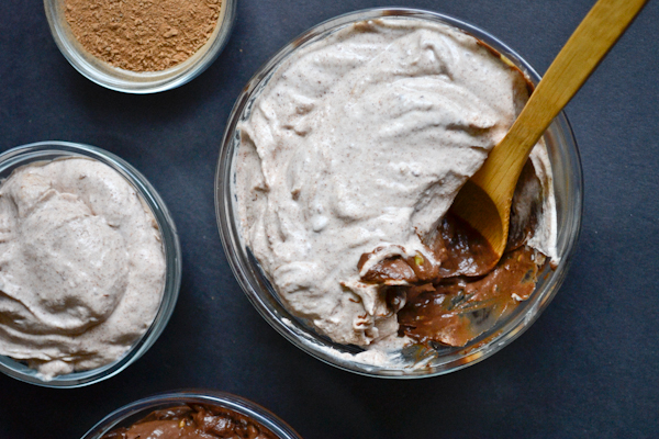 vegan Chocolate Pudding with Cinnamon  Whipped Cream