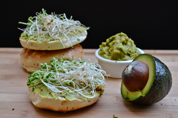 veggie avocado bagel spread