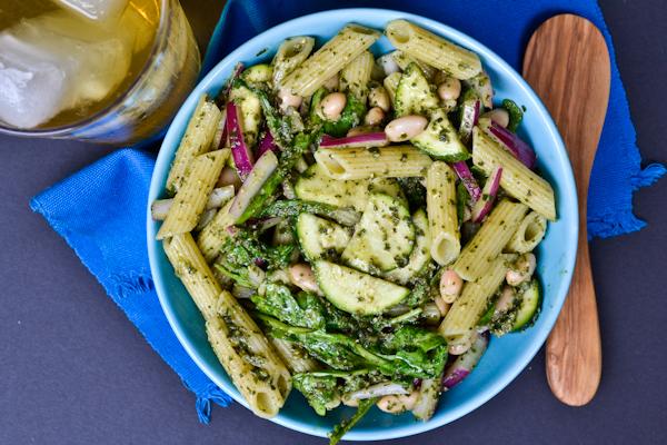 Punchy Pesto Pasta Salad