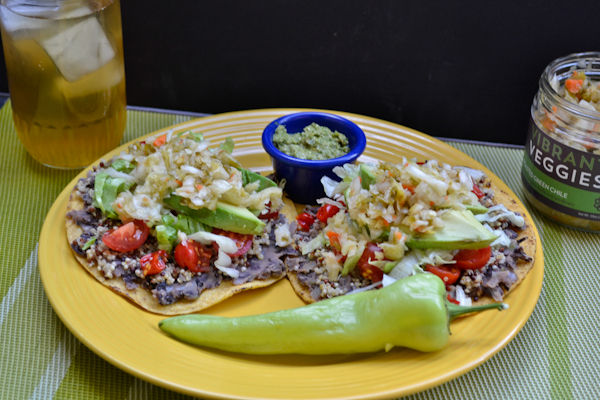 Roasted Green Chile + Quinoa Tostada