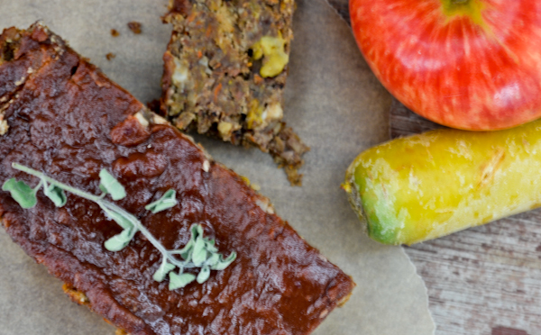 Gingery Apple Carrot Lentil Loaf