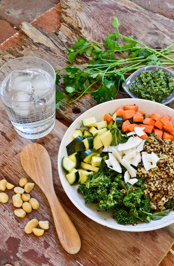 Macadamia Nut Pesto Power Bowl