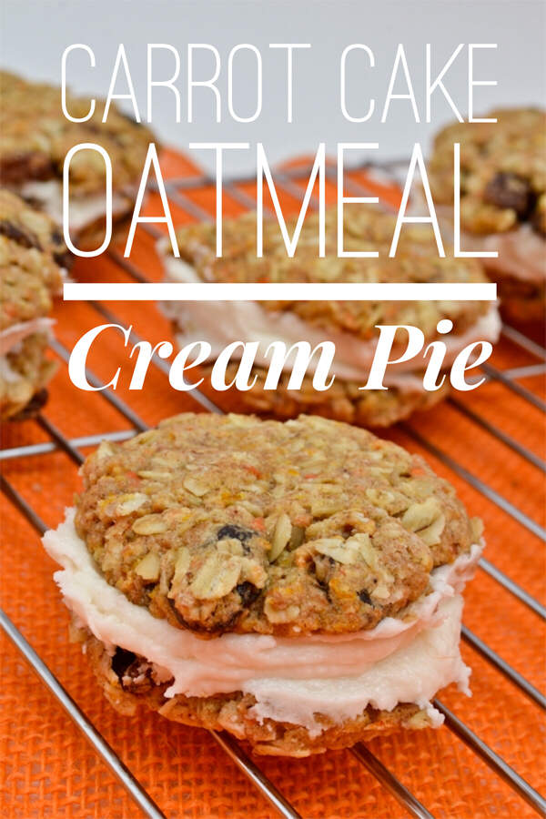 Carrot Cake Oatmeal Cream Pie