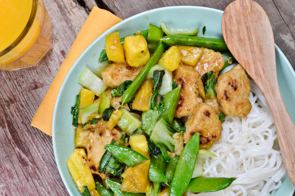 Mandarin Orange Chicken-less Stir Fry