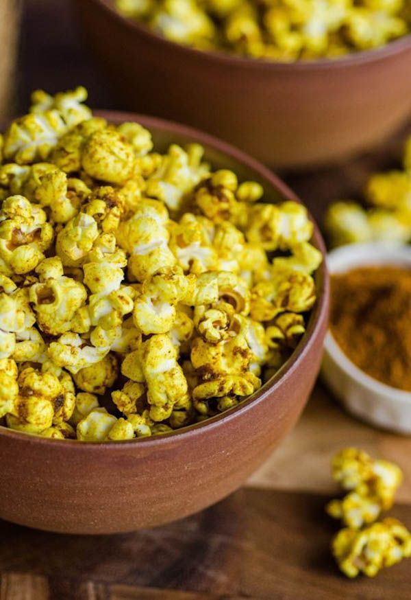 Sweet & Salty Curried Popcorn