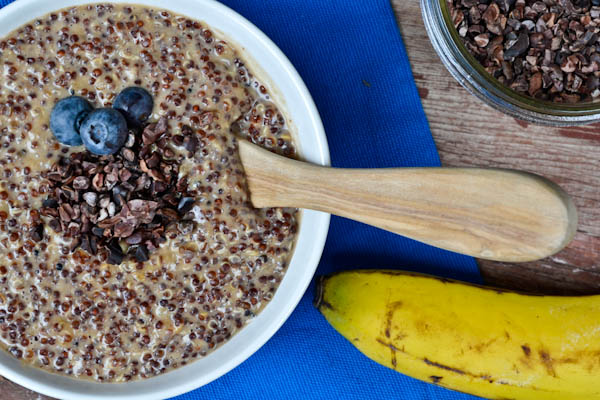 Peanut Butter Banana Quinoa Piudding