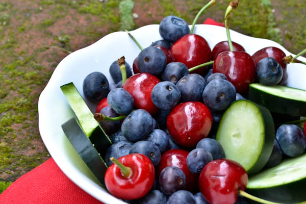Cucumber Berry Fruit Bowl