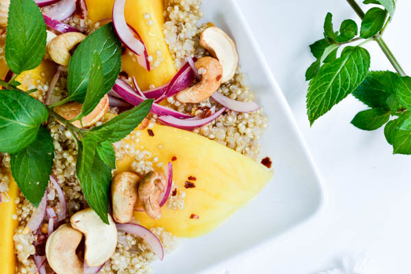 Sprouted Quinoa Mango Summer Salad