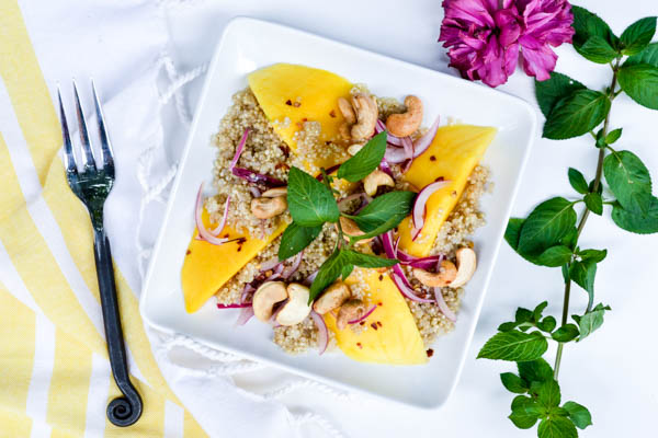 Sprouted Quinoa Mango Salad