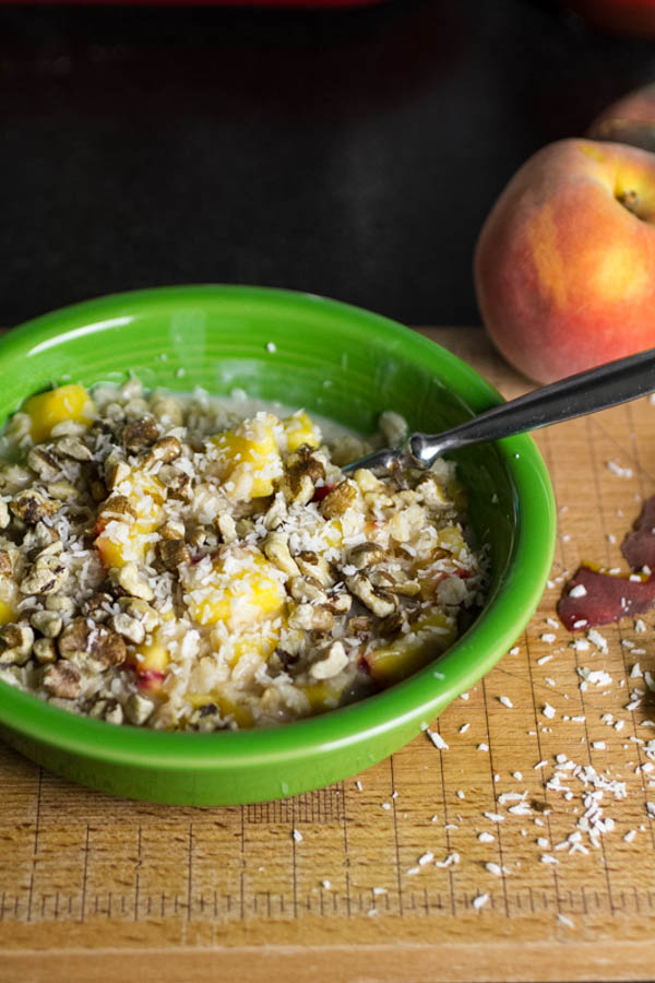 Coconut Peach Oatmeal