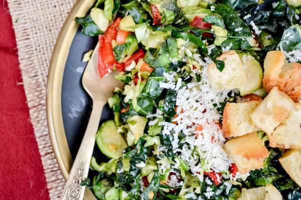 Shredded Kale & Brussels Sprouts Salad