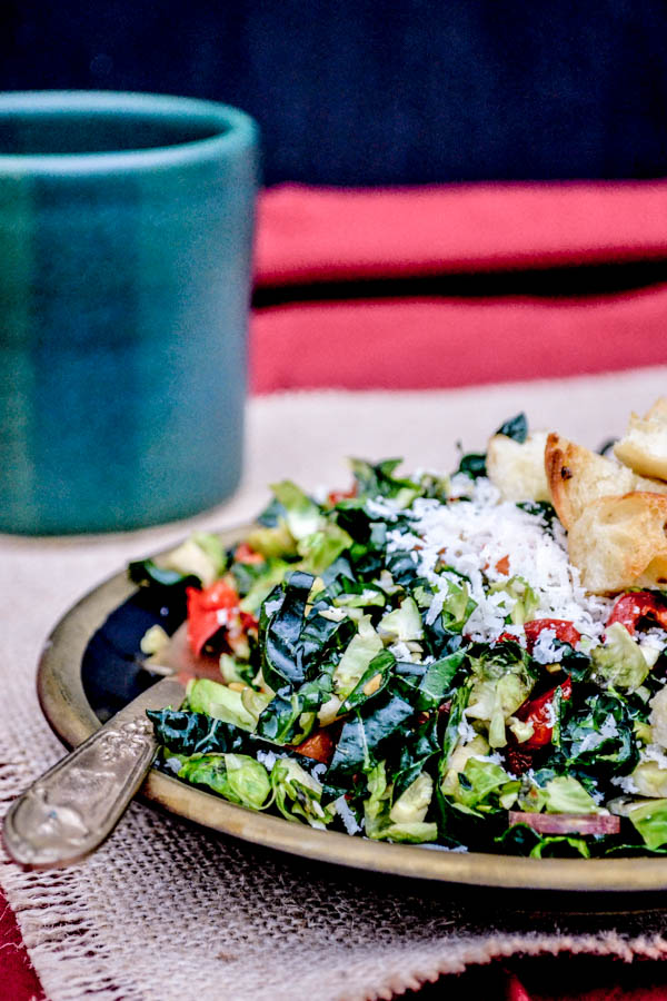 Shredded Kale & Brussels Sprouts Salad