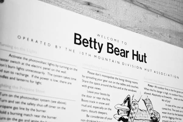 Betty Bear Hut 10th Mountain