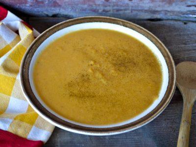 Sweet Potato + Smoked Gouda Soup