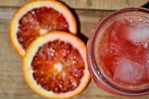 Sparkling Blood Orange Spritzer