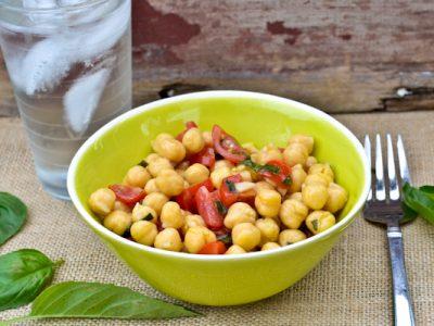 Chickpea & Tomato Salad With Fresh Basil