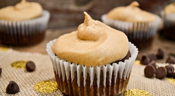 Vegan Chocolate Peanut Butter Cupcakes