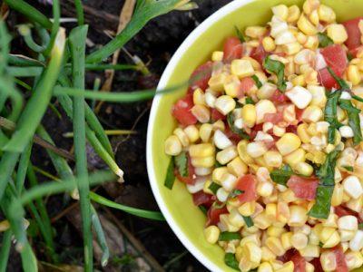 Corn Tomato Basil Salad