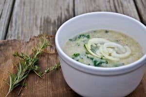 Cream Of Kale & Leek Soup