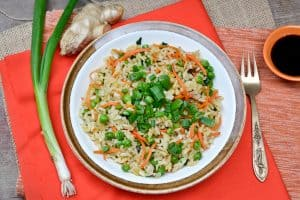 Garlicky Ginger Fried Rice