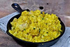 Indian Spiced Smashed Potatoes