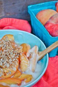 Peaches And Cream Yogurt Parfait