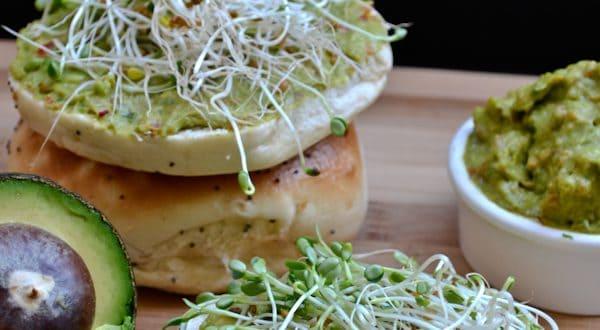 Veggie Avocado Bagel Spread