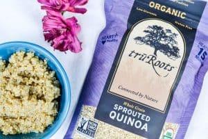 Sprouted Quinoa Mango Salad