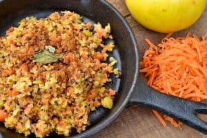 Apple, Carrot, Quinoa Hash