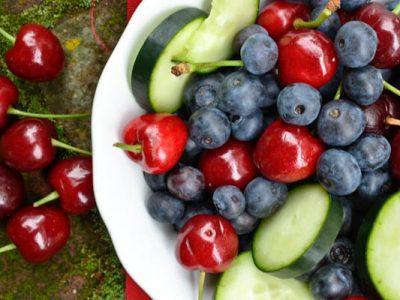 Cucumber Berry Fruit Bowl